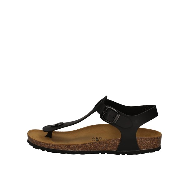 Gold Star Sandals Black