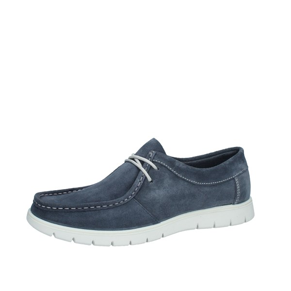 Igi e Co Shoes Man Moccasins Blue 5115500