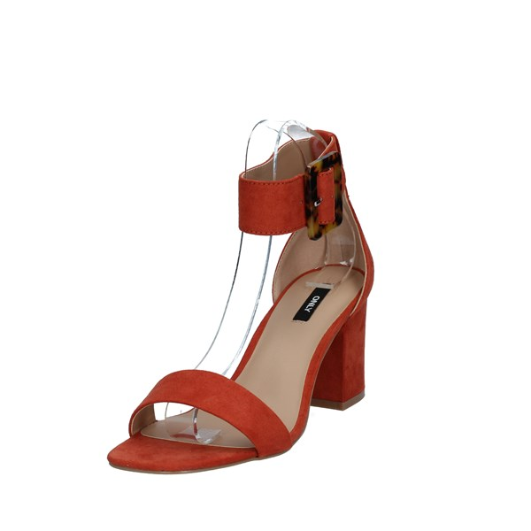 Only Shoes Woman With heel Orange 15194137