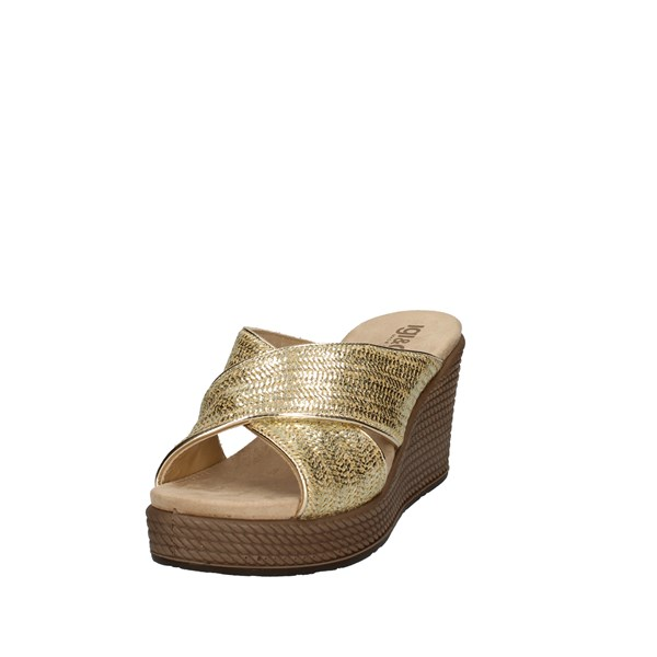 Igi e Co Shoes Woman With Wedge Gold 5180755