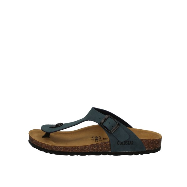 Gold Star Shoes Man Sandals Blue 1830
