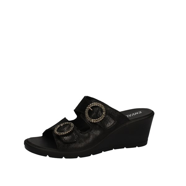 Enval Shoes Woman With Wedge Black 5282800