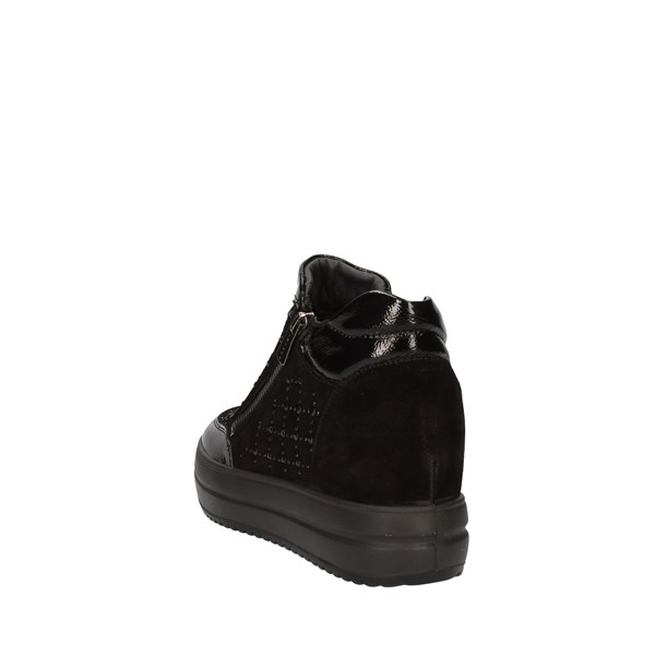 Igi e Co Shoes Woman With Wedge Black 6155800