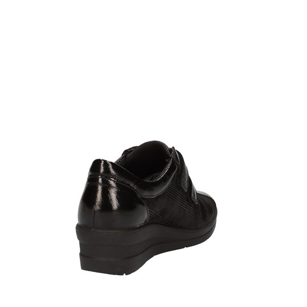 Enval Shoes Woman With Wedge Black 01917